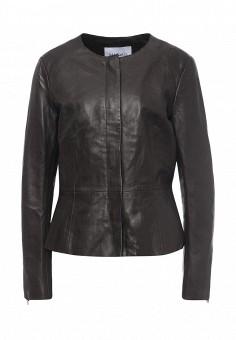 Куртка кожаная, Max&Co, цвет: коричневый. Артикул: MA111EWOLS66. Женская одежда / Верхняя одежда / Кожаные куртки