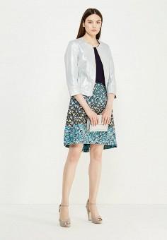 Куртка кожаная, Max&Co, цвет: серебряный. Артикул: MA111EWUBZ33. Женская одежда / Верхняя одежда / Кожаные куртки