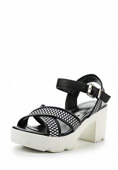 Босоножки, Massimo Santini, цвет: черный. Артикул: MA323AWRTB45. Женская обувь / Босоножки