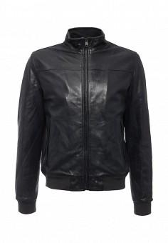 Куртка кожаная, MCS, цвет: синий. Артикул: MC009EMLCG20. Мужская одежда / Верхняя одежда / Кожаные куртки