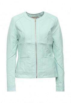 Куртка кожаная, Modis, цвет: мятный. Артикул: MO044EWRFV60. Женская одежда / Верхняя одежда / Кожаные куртки