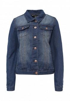 Куртка джинсовая, Modis, цвет: синий. Артикул: MO044EWSWQ32. Женская одежда / Тренды сезона / Летний деним / Джинсовые куртки