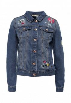 Куртка джинсовая, Modis, цвет: синий. Артикул: MO044EWSWQ34. Женская одежда / Верхняя одежда / Джинсовые куртки