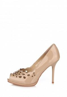 Туфли ditto бежевого цвета из натуральной кожи