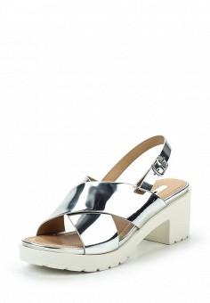 Босоножки, MTNG, цвет: серебряный. Артикул: MT001AWSAY23. Женская обувь / Босоножки