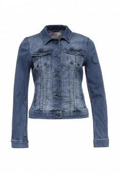 Куртка джинсовая, Mustang, цвет: синий. Артикул: MU454EWPMJ26. Женская одежда / Верхняя одежда / Джинсовые куртки