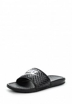Сланцы, Nike, цвет: черный. Артикул: NI464AWEYN57. Женская обувь / Шлепанцы и акваобувь