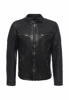 Куртка кожаная, Oakwood, цвет: черный. Артикул: OA002EMJJJ73. Мужская одежда / Верхняя одежда / Кожаные куртки