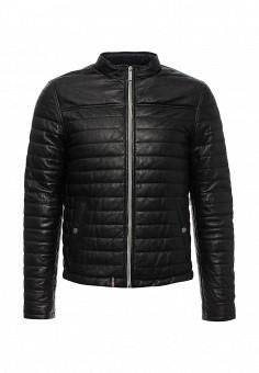 Куртка кожаная, Oakwood, цвет: черный. Артикул: OA002EMJJJ81. Мужская одежда / Верхняя одежда / Кожаные куртки