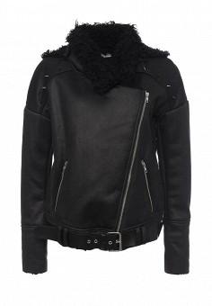 Дубленка, One Teaspoon, цвет: черный. Артикул: ON016EWOFR31. Женская одежда / Верхняя одежда / Шубы и дубленки