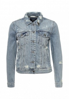 Куртка джинсовая, Only, цвет: голубой. Артикул: ON380EWOEK55. Женская одежда / Верхняя одежда / Джинсовые куртки
