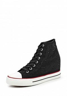 Кеды, oodji, цвет: черный. Артикул: OO001AWKOO40. Женская обувь / Кроссовки и кеды