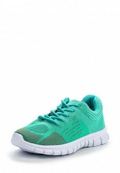 Кроссовки, oodji, цвет: зеленый. Артикул: OO001AWPPA34. Женская обувь / Кроссовки и кеды / Кроссовки
