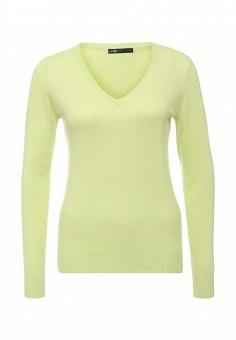 Пуловер, oodji, цвет: зеленый. Артикул: OO001EWKMP81.