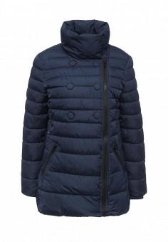 Куртка утепленная, oodji, цвет: синий. Артикул: OO001EWLUR27. Женская одежда / Верхняя одежда / Пуховики и зимние куртки