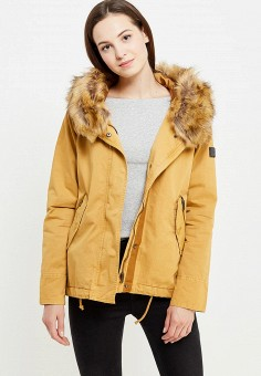 Парка, oodji, цвет: желтый. Артикул: OO001EWOCW02. Женская одежда / Верхняя одежда / Парки