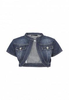 Куртка джинсовая, oodji, цвет: синий. Артикул: OO001EWPGU28. Женская одежда / Верхняя одежда / Джинсовые куртки