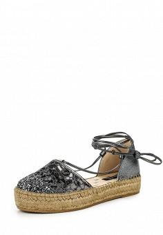 Эспадрильи, Patrizia Pepe, цвет: серебряный. Артикул: PA748AWPTM47. Премиум / Обувь / Сандалии