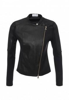Куртка кожаная, Patrizia Pepe, цвет: черный. Артикул: PA748EWPAF10. Женская одежда / Верхняя одежда / Кожаные куртки