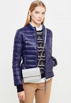 Пуховик, Patrizia Pepe, цвет: синий. Артикул: PA748EWTUR52. Премиум / Одежда / Верхняя одежда / Пуховики и зимние куртки