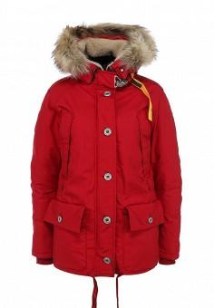 Пуховик, Parajumpers, цвет: красный. Артикул: PA997EWFLM79. Женская одежда / Верхняя одежда