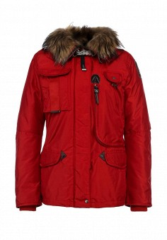 Пуховик, Parajumpers, цвет: красный. Артикул: PA997EWKB839. Женская одежда / Верхняя одежда