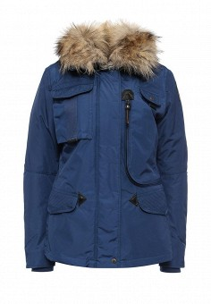 Пуховик, Parajumpers, цвет: синий. Артикул: PA997EWKKF36. Женская одежда / Верхняя одежда