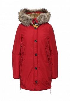 Пуховик, Parajumpers, цвет: красный. Артикул: PA997EWKKF49. Женская одежда / Верхняя одежда