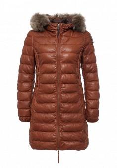 Куртка утепленная, Parajumpers, цвет: коричневый. Артикул: PA997EWKKF68. Женская одежда / Верхняя одежда