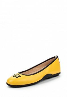 Балетки, Pinko, цвет: желтый. Артикул: PI754AWOIF62. Премиум / Обувь / Балетки