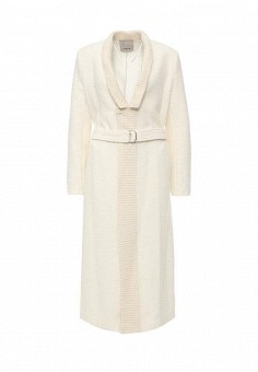 Пальто, Pinko, цвет: белый. Артикул: PI754EWJUS05. Премиум / Одежда / Верхняя одежда / Пальто