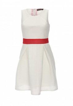 Платье, QED London, цвет: белый. Артикул: QE001EWHZV79. Женская одежда / Платья и сарафаны / Летние платья