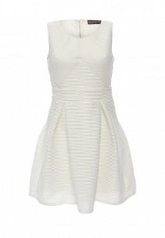 Платье, QED London, цвет: белый. Артикул: QE001EWHZV81. Женская одежда / Платья и сарафаны / Летние платья