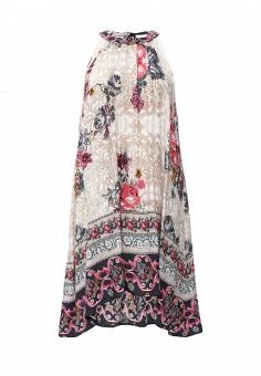 Платье, QED London, цвет: мультиколор. Артикул: QE001EWIVZ50. Женская одежда / Платья и сарафаны / Летние платья