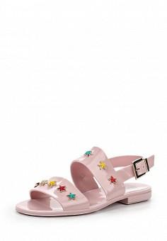 Сандалии, Red Valentino, цвет: розовый. Артикул: RE025AWOGG05. Премиум / Обувь / Сандалии