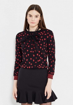 Джемпер, Red Valentino, цвет: черный. Артикул: RE025EWTDE63. Red Valentino