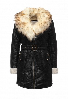 Дубленка, Resalsa, цвет: черный. Артикул: RE043EWNDJ10. Женская одежда / Верхняя одежда / Шубы и дубленки