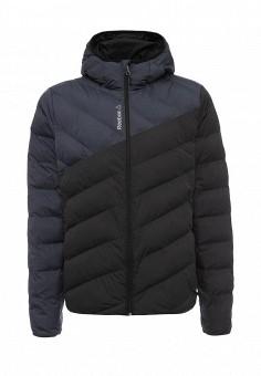 Куртка утепленная, Reebok, цвет: черный. Артикул: RE160EMLYI46. Мужская одежда / Верхняя одежда