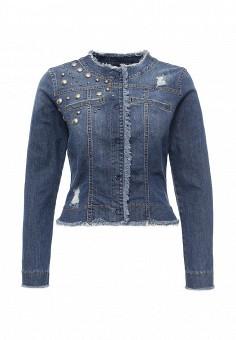 Куртка джинсовая, Rinascimento, цвет: синий. Артикул: RI005EWQET14. Женская одежда / Тренды сезона / Летний деним / Джинсовые куртки