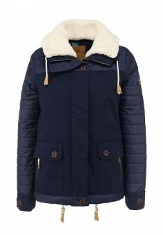 Куртка утепленная, Roxy, цвет: синий. Артикул: RO165EWFVQ15. Женская одежда / Верхняя одежда / Пуховики и зимние куртки