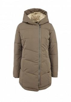 Куртка утепленная, Roxy, цвет: бежевый. Артикул: RO165EWFVQ69. Женская одежда / Верхняя одежда / Пуховики и зимние куртки