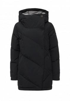 Пуховик, Roxy, цвет: черный. Артикул: RO165EWKCF29. Женская одежда / Верхняя одежда / Пуховики и зимние куртки