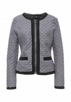 Куртка, S'Ebo, цвет: серый. Артикул: SE032EMQOE22. Женская одежда / Верхняя одежда / Демисезонные куртки