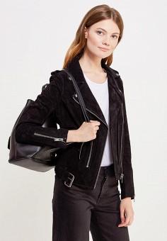Куртка кожаная, Selected Femme, цвет: черный. Артикул: SE781EWUXZ46. Женская одежда / Верхняя одежда / Косухи