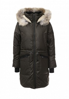 Пуховик, Soia & Kyo, цвет: хаки. Артикул: SO036EWLZL43. Женская одежда / Верхняя одежда / Пуховики и зимние куртки