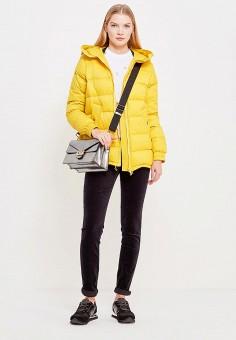 Пуховик, Sportmax Code, цвет: желтый. Артикул: SP027EWTMG77. Женская одежда / Верхняя одежда / Пуховики и зимние куртки