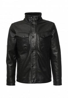 Куртка кожаная, Strellson, цвет: черный. Артикул: ST004EMJRC38. Мужская одежда / Верхняя одежда / Кожаные куртки