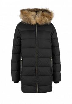 Пуховик, Tom Farr, цвет: черный. Артикул: TO005EWGOR06. Женская одежда / Верхняя одежда / Пуховики и зимние куртки