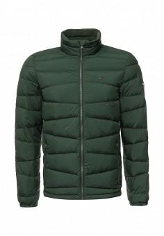 Пуховик, Tommy Hilfiger Denim, цвет: зеленый. Артикул: TO013EMNSJ28. Мужская одежда / Верхняя одежда / Пуховики и зимние куртки