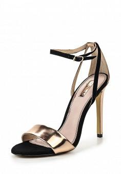 Босоножки, Topshop, цвет: золотой. Артикул: TO029AWQTG62. Женская обувь / Босоножки